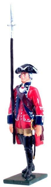 WB47037 - British 60th Regiment of Foot Officer Marching, 1754-1763