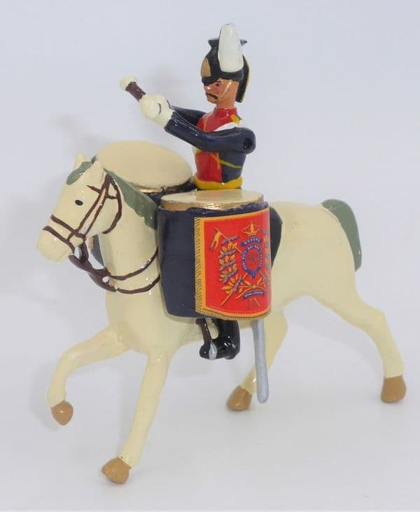 William Britain Hollowcast 9th Lancer Band Drum Horse A