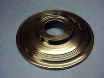 """TRIUMPH BSA 7"""" TWIN LEADING  HUB COVER STAINLESS 37-3443  TR25 T90 T100S B25 B44"""