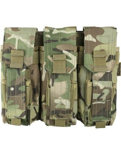 British Terrain Pattern Triple Mag Pouch with PISTOL Mag