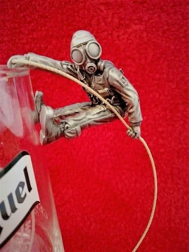 Pewter Who Dares Wins SAS Glass Hanging Abseiler