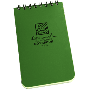 """Rite In The Rain Tactical Note Pad Green - 3"""" X 5"""""""