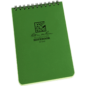 "Rite In The Rain Tactical Note Pad Green -  4"" X 6"""