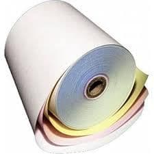 3 Ply Till Rolls 76mm x 76mm White/Yellow/Pink