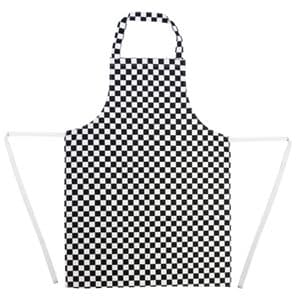 Apron Bib Black Check