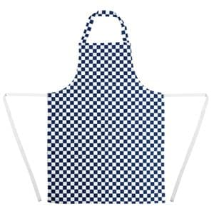Apron Bib Blue Check