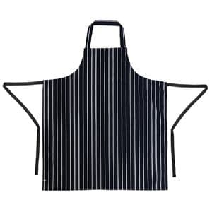 Apron Bib Blue Stripe