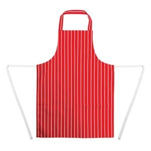 Apron Bib Red Stripe