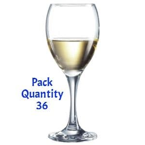Arcoroc Seattle Nucleated Wine Glasses 240ml CE Marked at 175ml