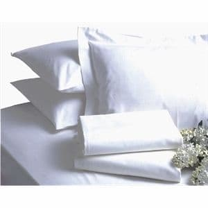 Bed Linen Double Polycotton Fitted Sheet