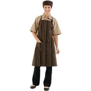 Bib Apron Chocolate & Cream Stripe