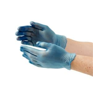 Blue Vinyl Gloves Large