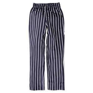 Chefs Trousers Blue and White Stripe.