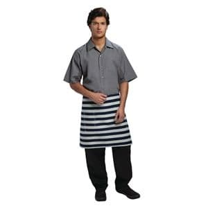 Chesapeake Wide Stripe Bistro Apron Blue