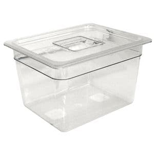Clear Polycarbonate Gastronorm Container 1/4 Size 65mm deep