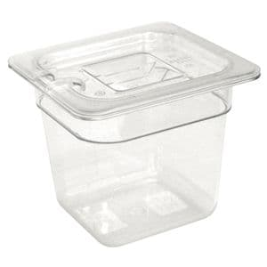 Clear Polycarbonate Gastronorm Container 1/6 Size 150mm deep