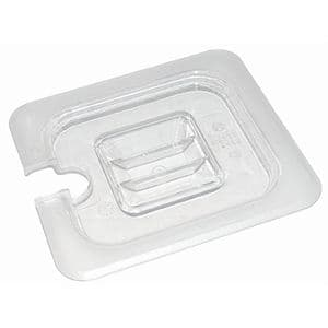 Clear Polycarbonate Gastronorm Notched Lid 1/6 Size