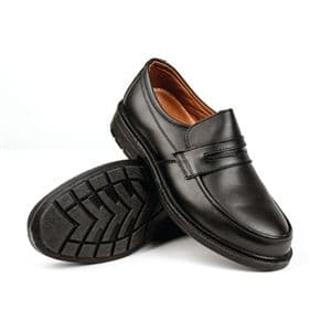 Executive Gents Safety Shoe Black Slip On.
