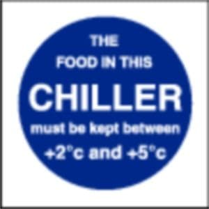 Food In This Chiller Sign