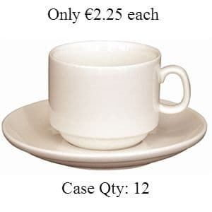 Ivory Porcelain Stacking Espresso Cup 3oz