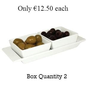 Miniature Snack Dish Square 2 Section