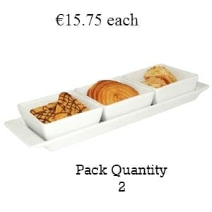 Miniature Snack Dish Square 3 Section
