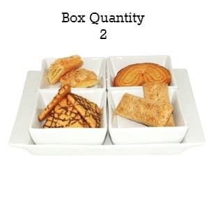 Miniature Snack Dish Square 4 Section