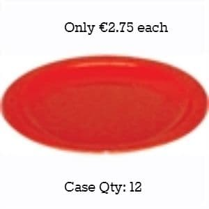 """Polycarbonate Plates 6.75"""" Red"""