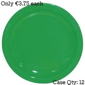 """Polycarbonate Plates 9"""" Green"""