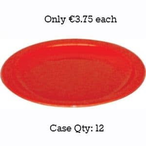 """Polycarbonate Plates 9"""" Red"""