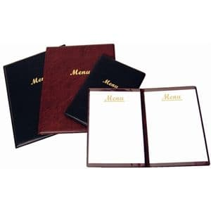 PVC A4 Menu Holder Black 2 page