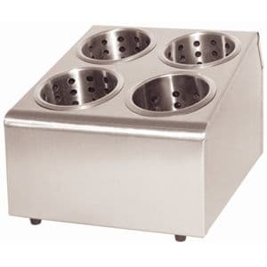 Stainless Steel Cutlery Basket Holders 4 Hole