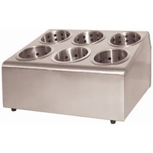 Stainless Steel Cutlery Basket Holders 6 Hole