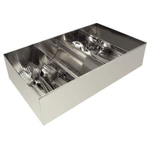 Stainless Steel Cutlery Tray 4 Compartment