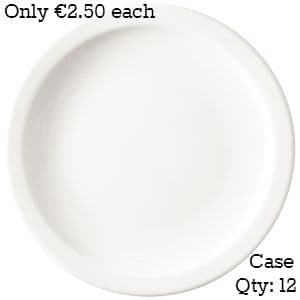 """Value Ware Plate Narrow Rimmed 10"""""""