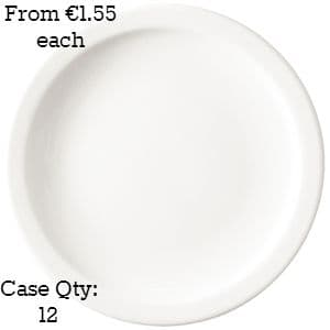 """Value Ware Plate Narrow Rimmed 6.5"""""""