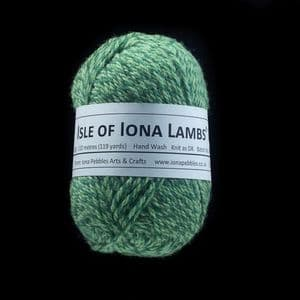 Isle of Iona Lambs' Wool - Moss Tweed
