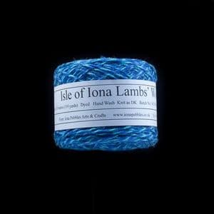 Isle of Iona Lambs' Wool - Ocean Blue Tweed