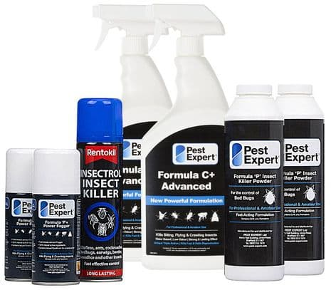 Bed Bug Treatment Kit for 2 Rooms (Pest Expert / Rentokil products)