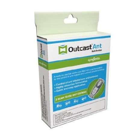 Outcast Ant Bait Stations - 3 Ready To Use Bait Stations