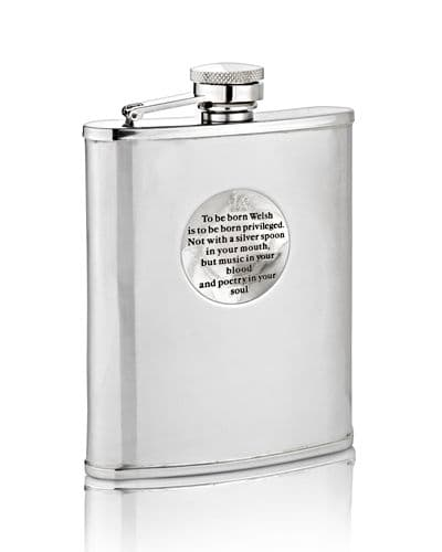 Born Welsh Hip Flask