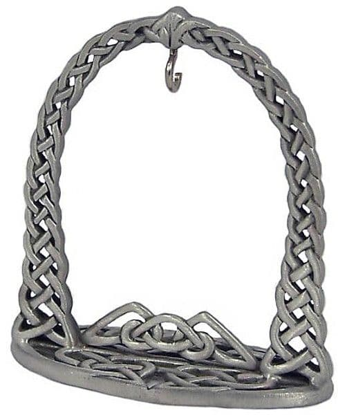 Celtic Arch Pewter Pocket Watch Stand