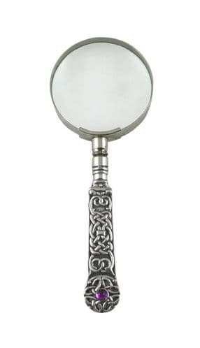 Celtic Cross With Stone Hand Magnifier