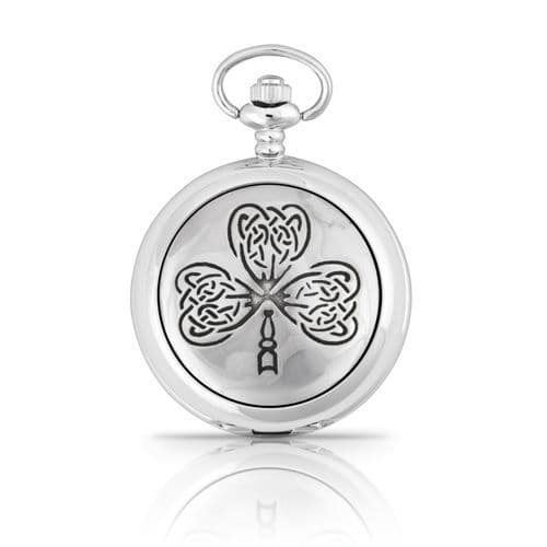Celtic Leaf Shamrock Pocket Watch