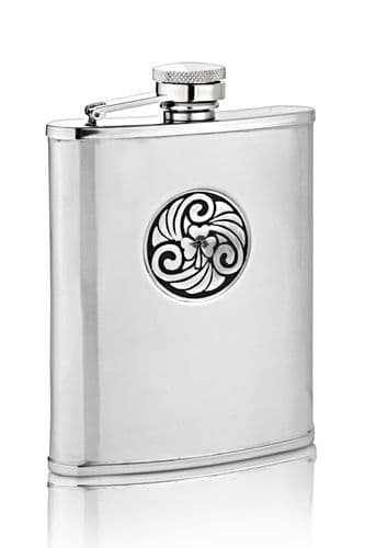 Celtic Shamrock Hip Flask