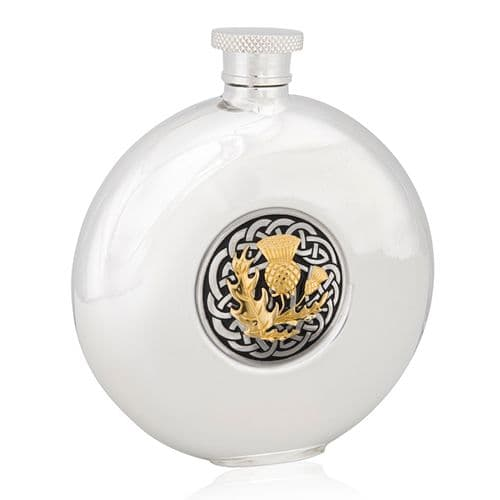 Celtic Thistle Two Tone Round Flask