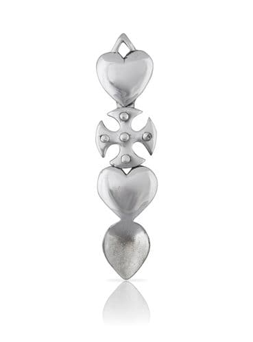 Double Heart and Cross Lovespoon