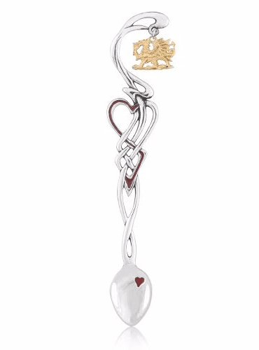 Enamelled Lovespoon with Dragon Charm