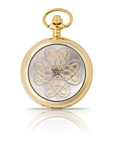 Entwined Love Knot Pocket Watch Gold