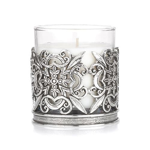 Floral Holder with Candle